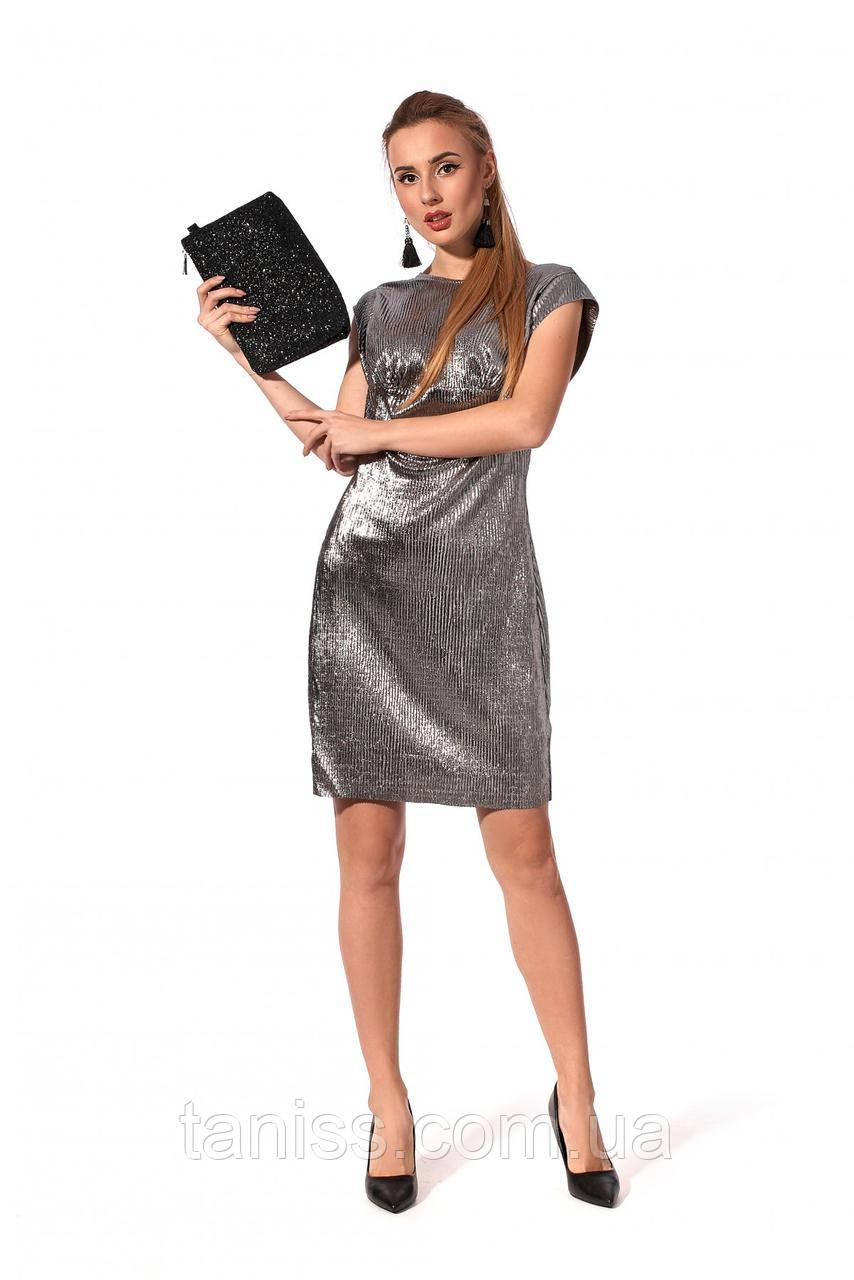Праздничное,женское платье без рукавов , ткань жатка, размеры 42,44,46,48 (1215.2)черный,сукня