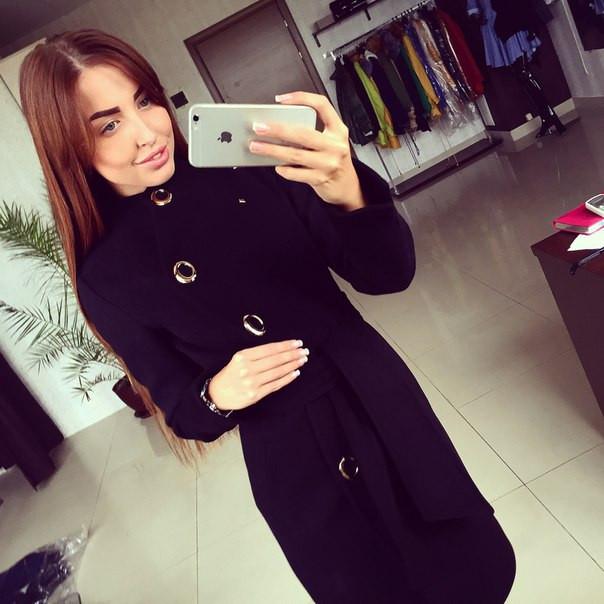 28be4cecbe7e Пальто женское Волна черное , женское пальто недорого - Интернет-магазин