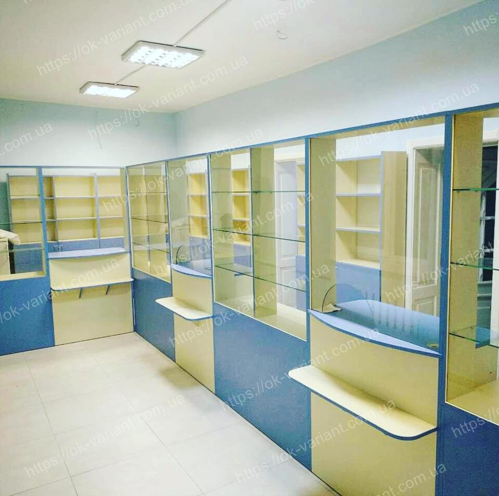 Аптечная мебель, Мебель для аптеки, Оборудование аптеки, Витрины