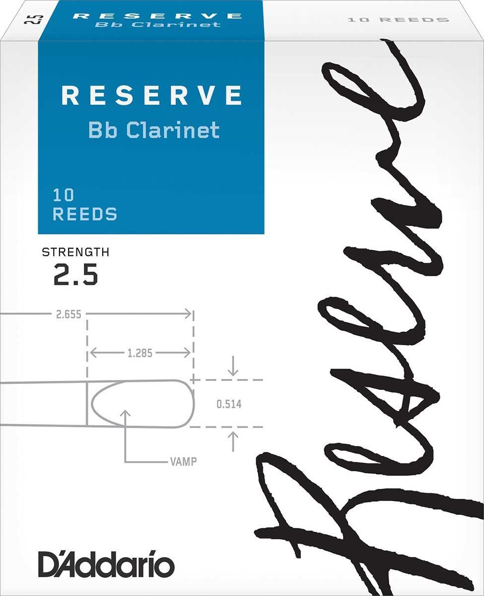 Трости для кларнета Bb D`ADDARIO DCR1025 Reserve Bb Clarinet #2.5 - 10 Box