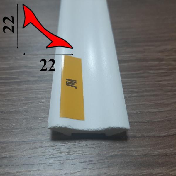 Галтель из вспененного ПВХ 22мм х 22 мм, 2,7 м, Белая