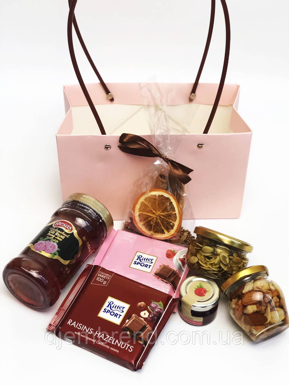 Подарочный набор Ritter Sport, мед в баночках, к Новому году