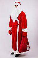 Костюм мужской Деда Мороза красный, синий 52-54