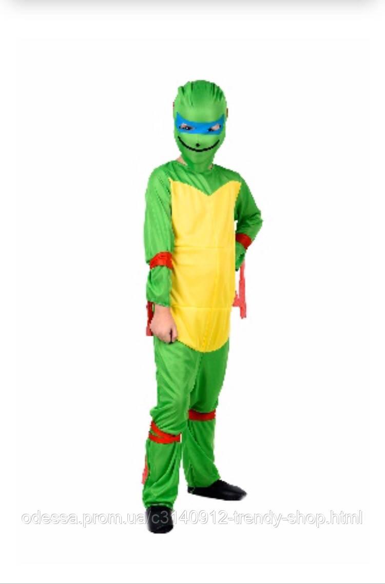 Карнавальный костюм детский  Черепашка Ниндзя Полиэстер