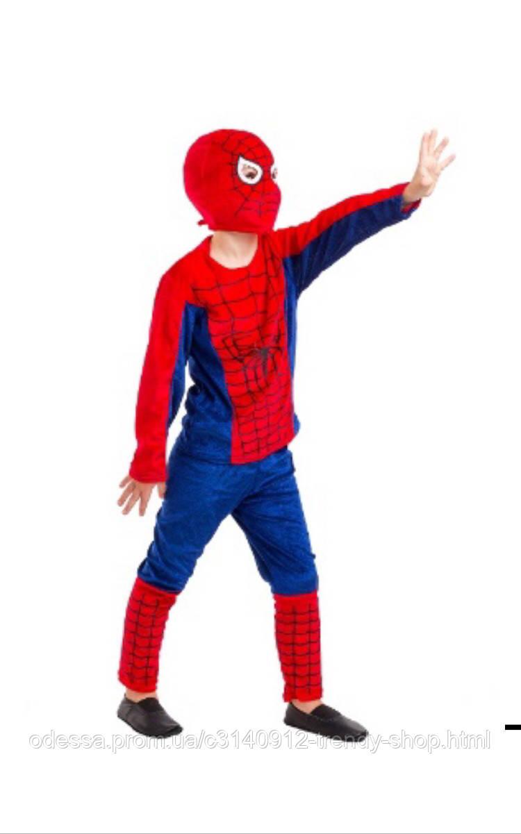 Карнавальный костюм Человек Паук велюр красный