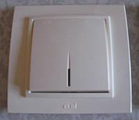 Выключатель с подсветкой ABB El-bi ZENA с рамкой белый, Турция