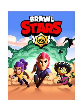 """""""Brawl Stars"""" - Наклейка, Сок 6,5*8,5 см."""