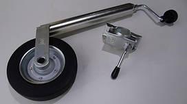 Опорное колесо с хомутом (нагрузка 200 кг) для прицепов, лафет