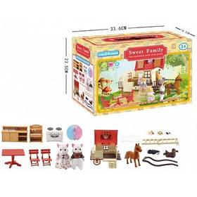 Животные флоксовые Happy Family 1505 Домик передвижной