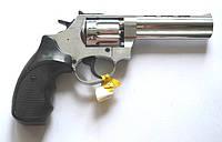 """Револьвер под патрон Флобера Ekol 4,5"""" Chrome (черный пластик)"""