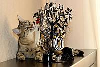 Дерево для хранения украшений, бижутерии, цепочек, серьг, бус. Металлическое, надежное