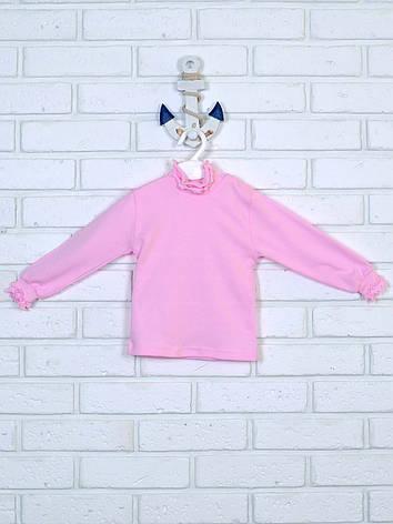 Розовая водолазка с рюшами 86-110, фото 2