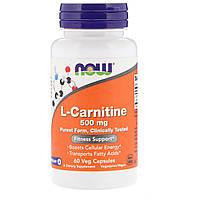 Л-карнитин NOW L-Carnitine 500 мг (30 капсул)