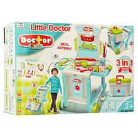 Доктор 008-929  на колесах, 59,7-47-42,5см, чемодан, инструменты, в кор-ке,41-60-16см
