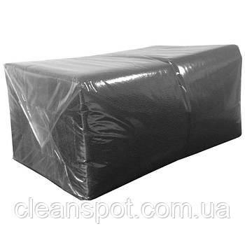 Салфетка чёрная столовая 24см 1-слойная 300 шт. Professional