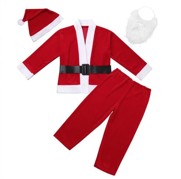 Маскарадный костюм Санты Клауса  флок на 3-5  лет