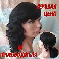 Парик из натуральных волос удлиненный каскад шоколадный ANGELIKA- 2/33
