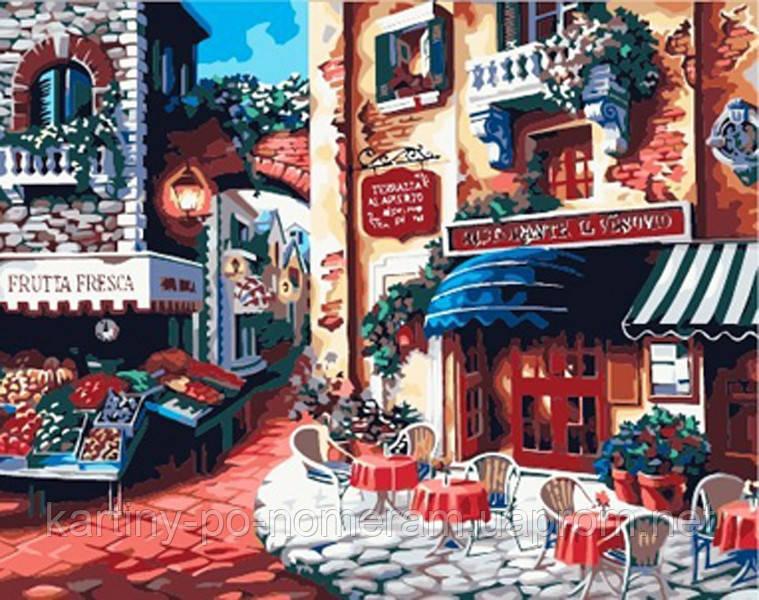 Рисование по цифрам KH078 Итальянская улица Вкус Италии (40 х 50 см) Идейка