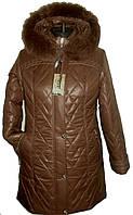 Женская куртка больших размеров с капюшоном, 54-70 р-р