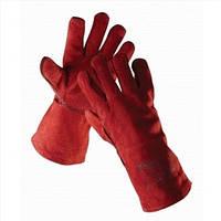 Перчатки (краги) для сварщика красные Sandpiper с подкладкой