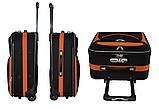 Дорожный чемодан на колесах Bonro Best Черно-розовый Небольшой, фото 3