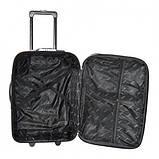 Дорожный чемодан на колесах Bonro Best Черно-розовый Небольшой, фото 4