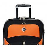 Дорожный чемодан на колесах Bonro Best Черно-розовый Небольшой, фото 5