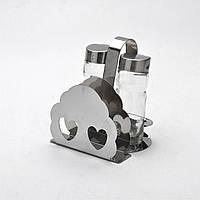 Набор для специй стекло на металлической подставке + салфетница 3 пр.MB-9808 Mayer&Boch