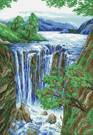 DM-045 Набор алмазной живописи Водопад
