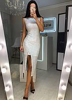Платье-двойка Алмаз белое