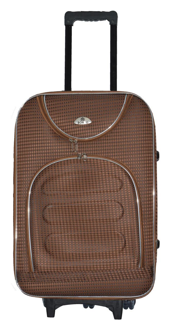 Дорожный чемодан на колесах Bonro Lux Coffee-клетка Небольшой