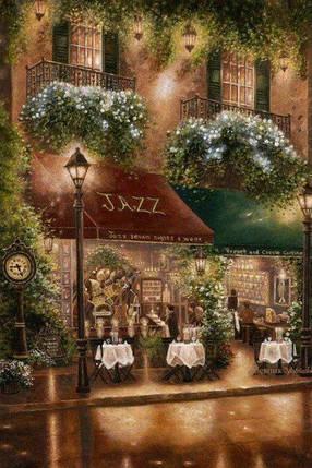 DM-076 Набор алмазной живописи Ночное кафе, фото 2