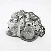 Набір для спецій скло на металевій підставці + підставка для серветок 2 пр. MB-9813 Mayer&Boch