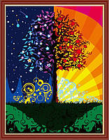 Рисование по цифрам KH224 Дерево счастья (40 х 50 см) Идейка