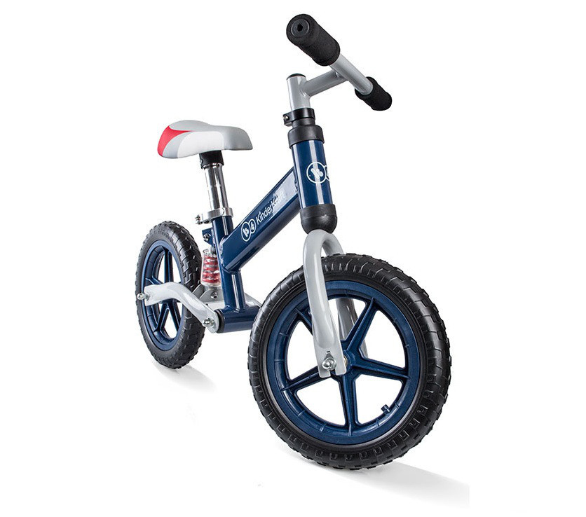 Велобег детский KinderKraft EVO металлический с амортизатором (беговел самокат-беговел)