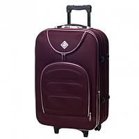 Дорожній валізу на колесах Bonro Lux Бордовий Великий