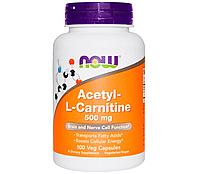 Л-карнитин NOW L-Carnitine 500 мг (60 капсул)