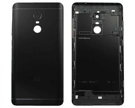 Задняя крышка Xiaomi Redmi Note 4X Snapdragon, China version/Redmi Note 4 Global (2017), черная, Оригинал