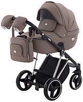 Детская коляска универсальная 2 в 1 Adamex Mimi Polar (Chrome) кожа 100% CR-308(Адамекс, Польша)
