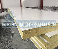 Сендвич панель стеновая от 50мм базальтовая, минеральная, негорючая вата