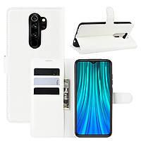 Чехол-книжка Litchie Wallet для Xiaomi Redmi Note 8 Pro Белый