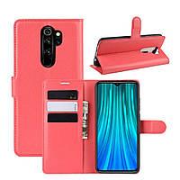 Чехол-книжка Litchie Wallet для Xiaomi Redmi Note 8 Pro Красный
