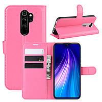 Чехол-книжка Litchie Wallet для Xiaomi Redmi Note 8 Pro Розовый