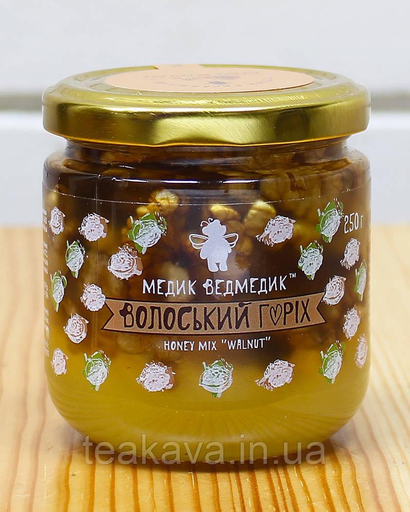 """Мед з волоським горіхом """"Медик Ведмедик"""", 250 г"""