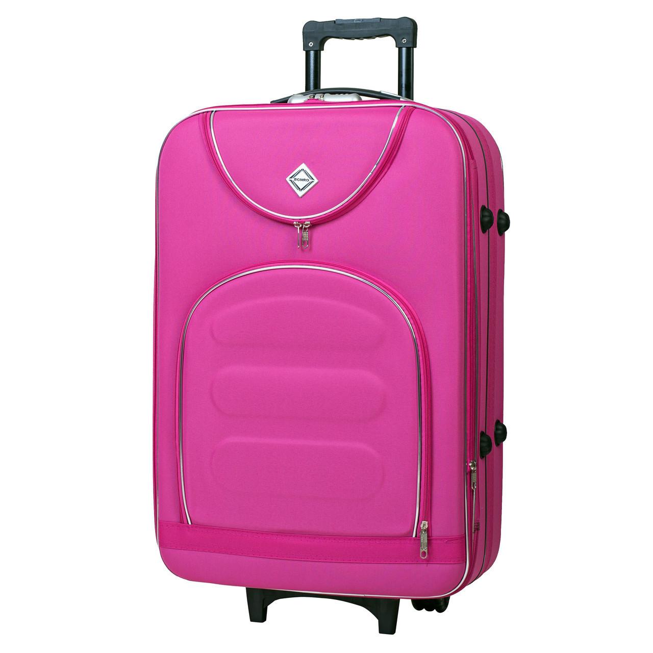 Дорожный чемодан на колесах Bonro Lux Розовый Большой