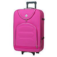 Дорожній валізу на колесах Bonro Lux Рожевий Великий