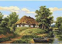 Схема для  вышивки бисером Деревенский пейзаж