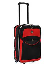 Дорожный чемодан на колесах Bonro Best Черно-красный Небольшой