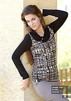 Блузка женская черного цвета с длинным рукавом