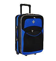 Дорожный чемодан на колесах Bonro Best Черно-синий Большой